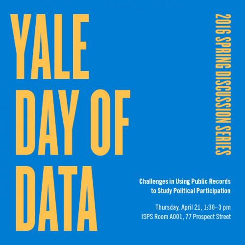 Yale Day of Data Spring Discussion Series