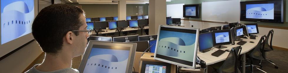Picture of teh StatLab Computer classroom